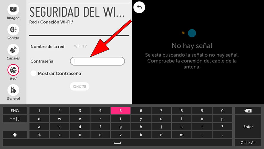 Contraseña Wi-Fi WebOS