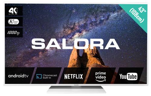 """Salora MILKYWAY 43 109.2 cm (43"""") 4K Ultra HD Smart TV Wi-Fi White 0"""