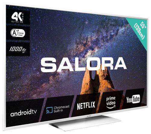"""Salora MILKYWAY 55 TV 139.7 cm (55"""") 4K Ultra HD Smart TV Wi-Fi White 1"""