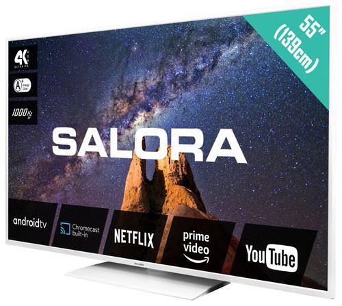 """Salora MILKYWAY 55 TV 139.7 cm (55"""") 4K Ultra HD Smart TV Wi-Fi White 2"""