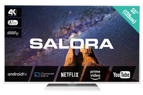"""Salora MILKYWAY 55 TV 139.7 cm (55"""") 4K Ultra HD Smart TV Wi-Fi White"""