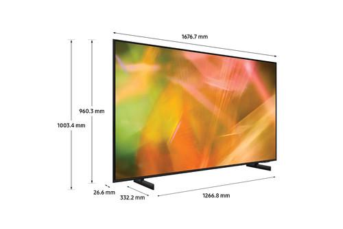 "Samsung Series 8 AU8000 139.7 cm (55"") 4K Ultra HD Smart TV Wi-Fi Black 13"