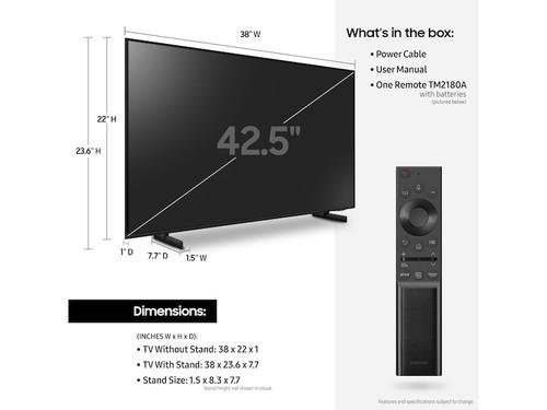 "Samsung Series 8 UN43AU8000 109.2 cm (43"") 4K Ultra HD Smart TV Wi-Fi Black 4"