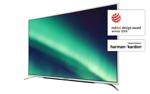 "Sharp Aquos LC-55CUF8372ES TV 139.7 cm (55"") 4K Ultra HD Smart TV Wi-Fi Silver 1"