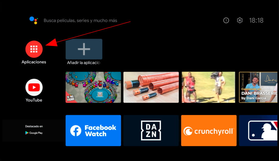 Sintonizar Android TV paso 2