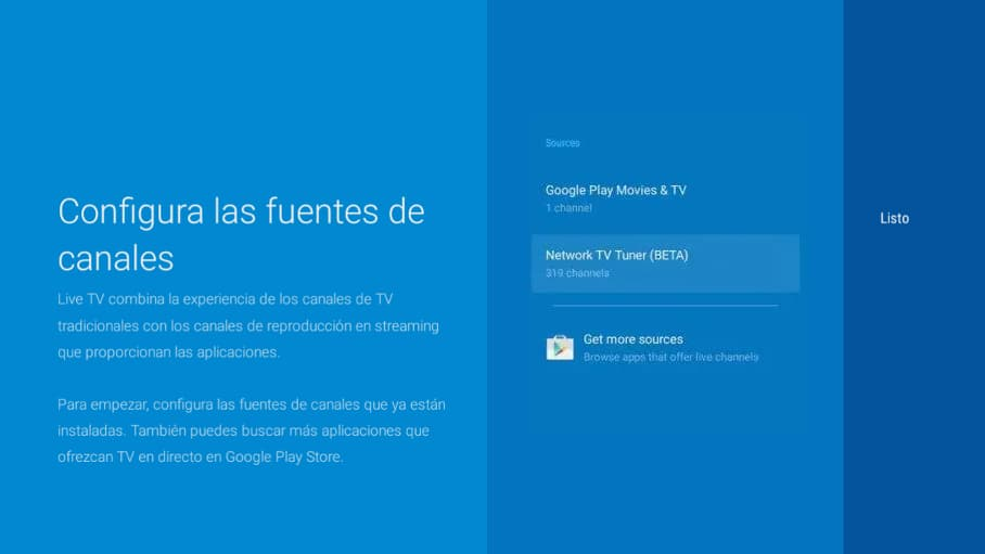 Sintonizar Android TV paso 7