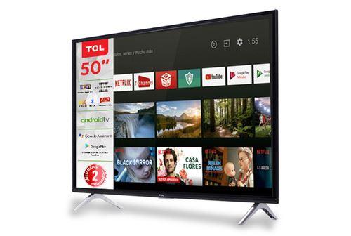 "TCL 50A435 TV 127 cm (50"") 4K Ultra HD Smart TV Wi-Fi Black, Silver 1"